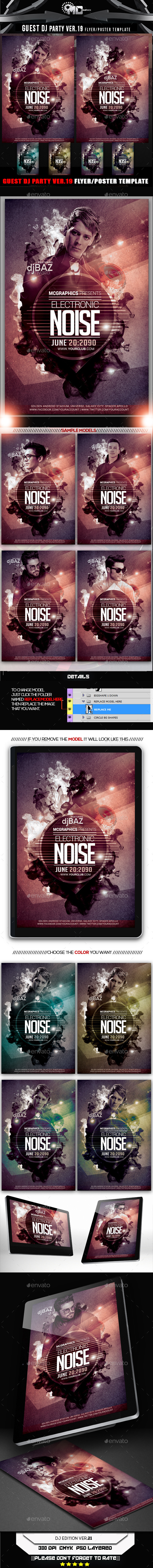 GraphicRiver Guest DJ Party Ver 19.1 Flyer Template 10089879