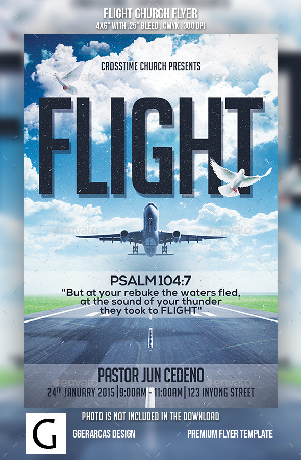 GraphicRiver Flight Church Flyer 10062958