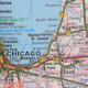 Topographical Map Of The Usa. Chicago - Cleveland - VideoHive Item for Sale