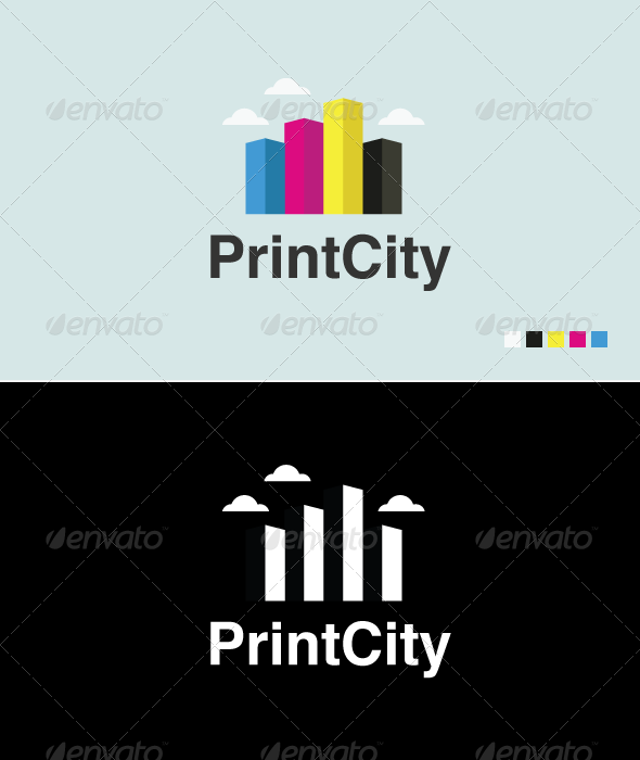 Print City - Logo Template - Buildings Logo Templates