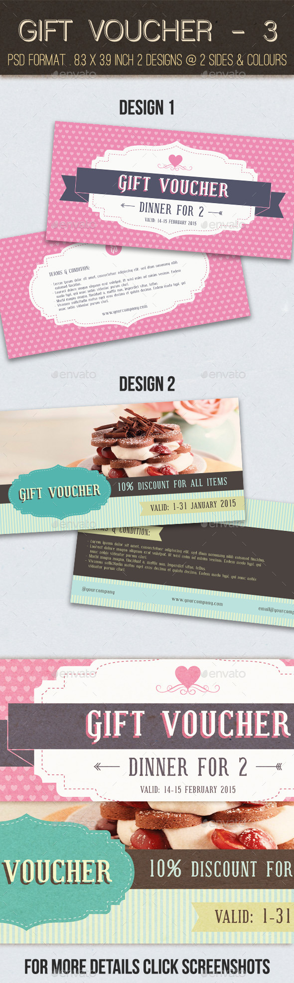 GraphicRiver Gift Voucher 3 10090533