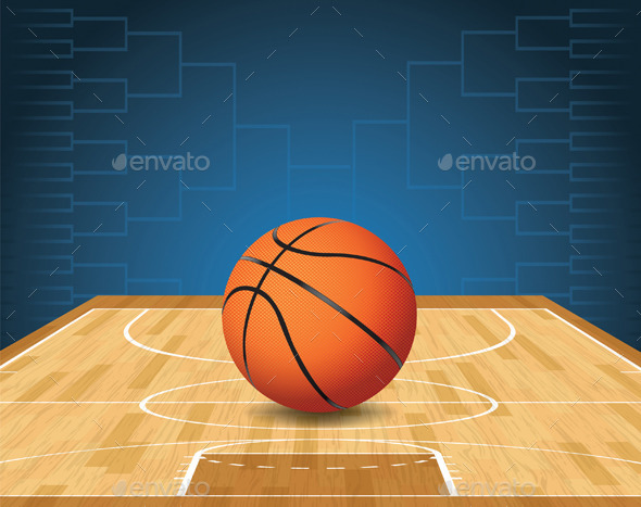 GraphicRiver Basketball Court and Ball Tournament 10090626