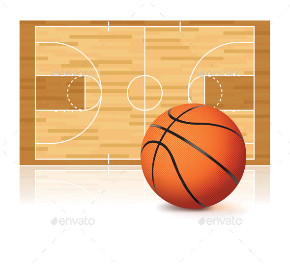 GraphicRiver Basketball and Court 10090635
