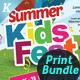 Kids Summer Camp Print Bundle - GraphicRiver Item for Sale