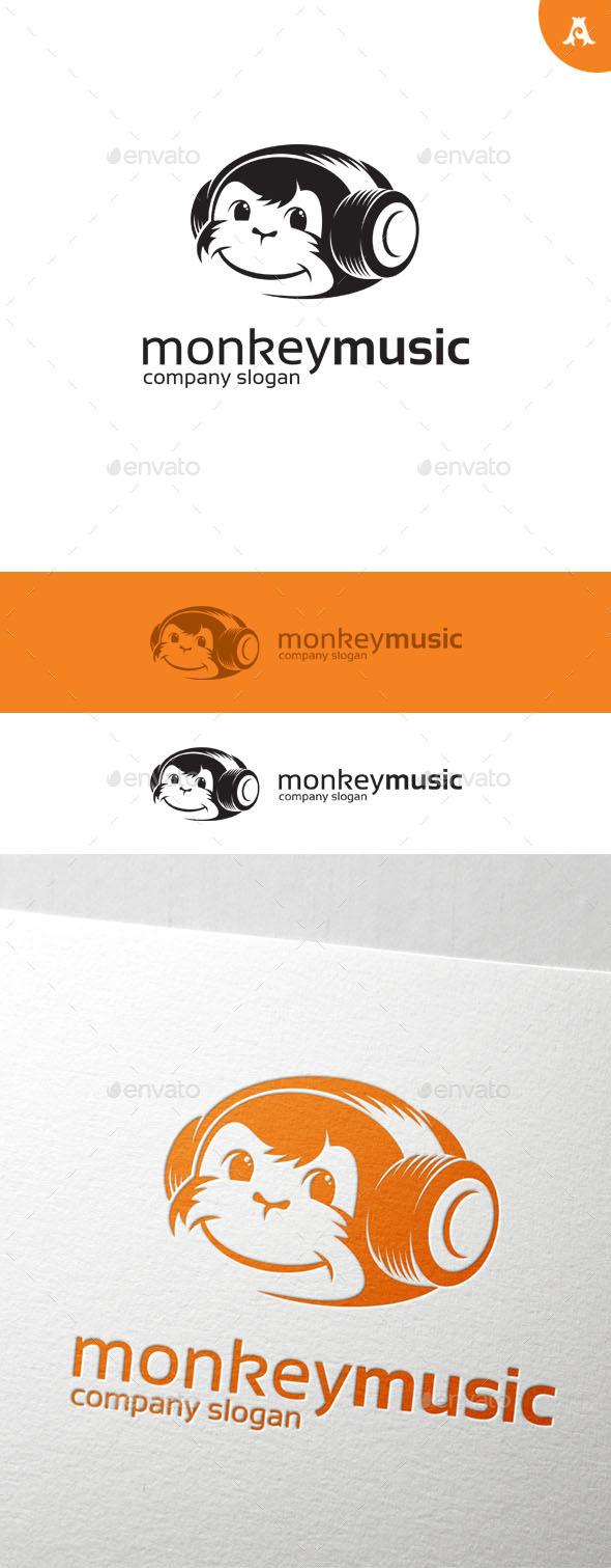 GraphicRiver Monkey Music Logo 10090933