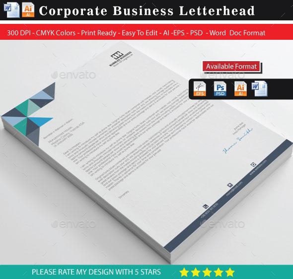 GraphicRiver Letterhead 10090953