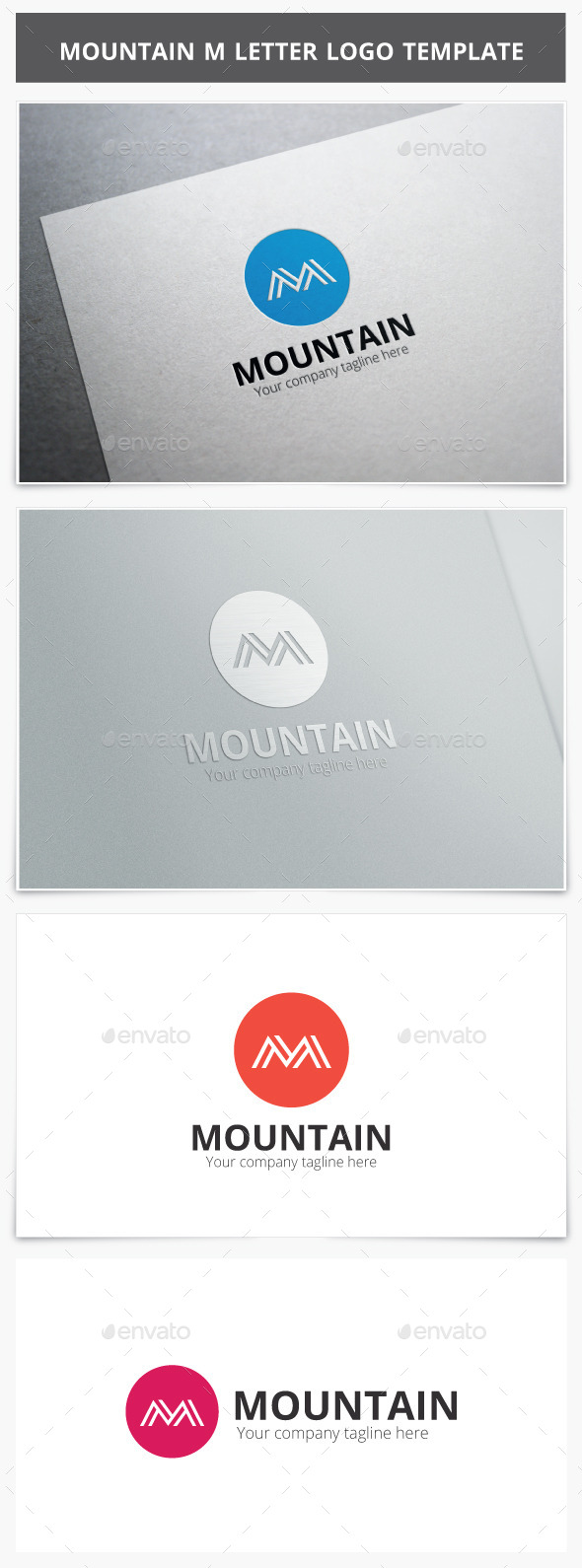 GraphicRiver Mountain M Letter Logo 10090982