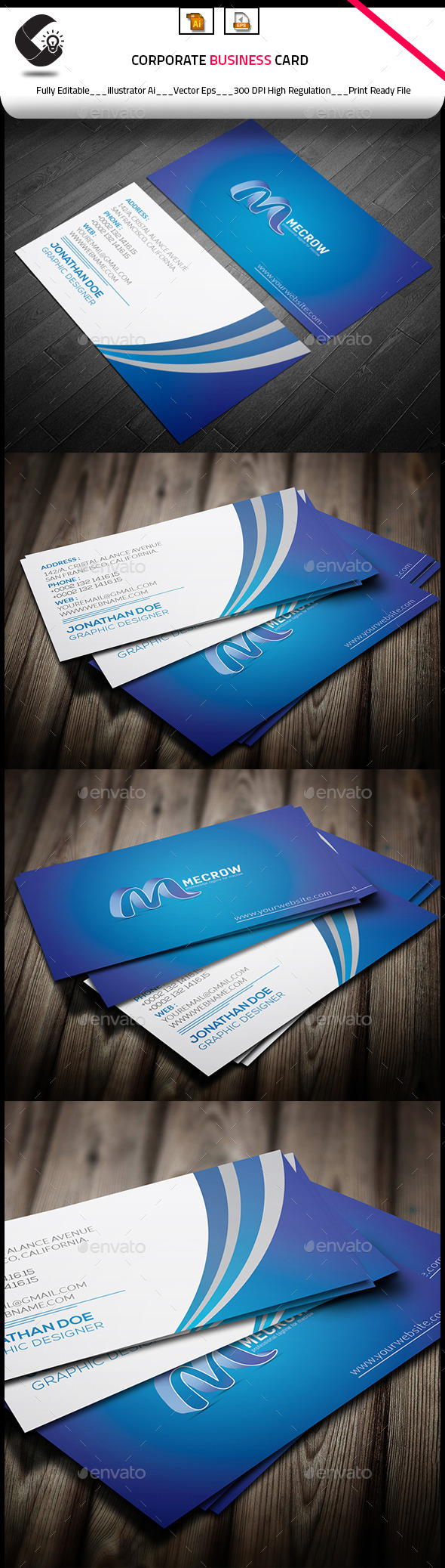 GraphicRiver Corporate Business Card 10010337