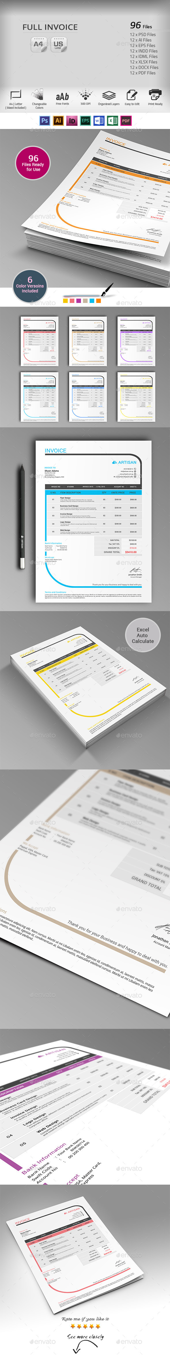 GraphicRiver Invoice 10091006