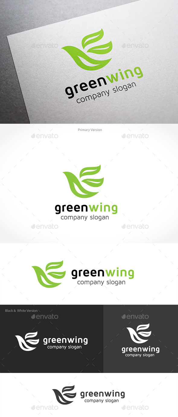 GraphicRiver Green Wing 10091048