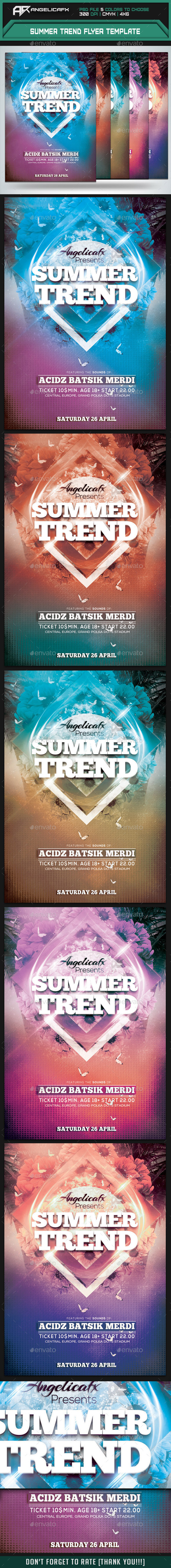 GraphicRiver Summer Trend Flyer Template 10091060