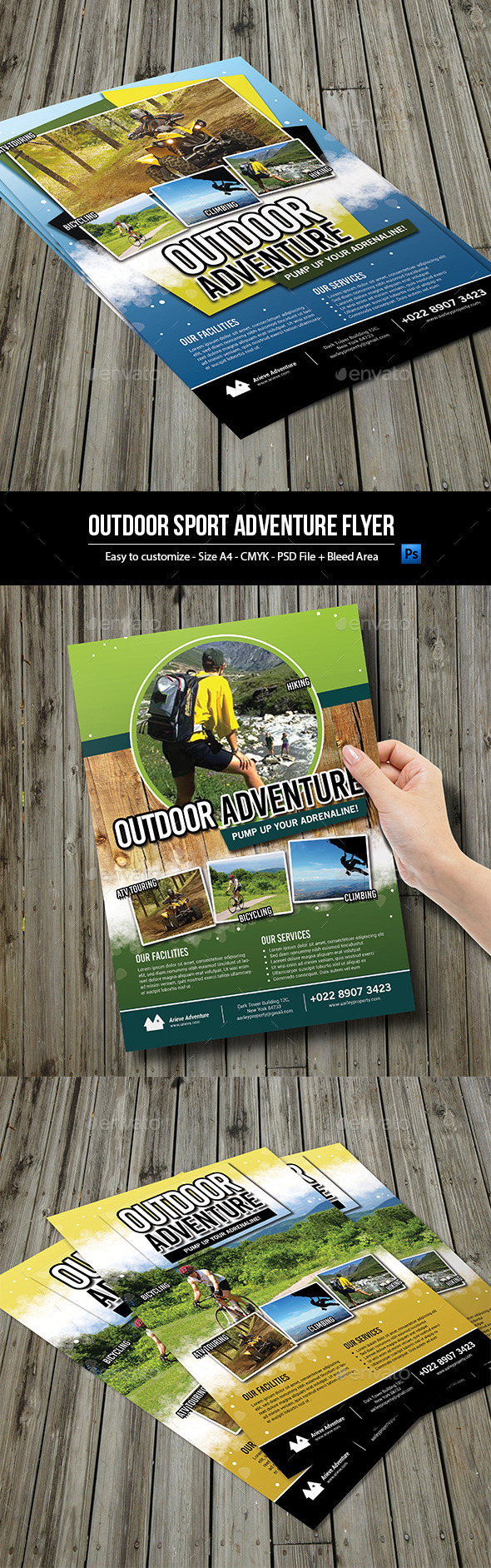 GraphicRiver Outdoor Sport Adventure Flyer 9953975