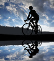 cyclist riding a road bike - PhotoDune Item for Sale
