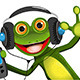 Frog In Headphones - GraphicRiver Item for Sale