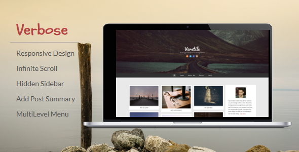 ThemeForest Verbose Responsive Blogger Template 9996829