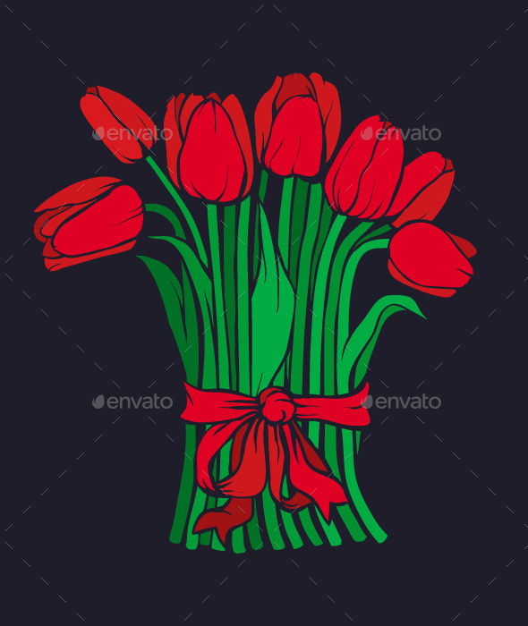 GraphicRiver Red Tulips 10091411