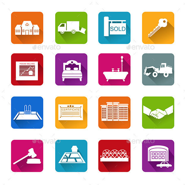 GraphicRiver Real Estate Icons 10091491