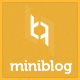 MiniBlog - Responsive Personal Blog Theme - ThemeForest Item for Sale