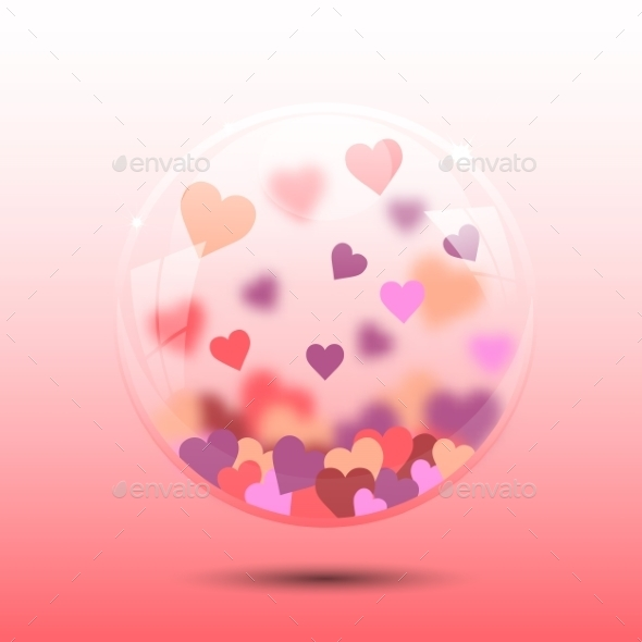GraphicRiver Glass Bowl with Heart 10091543