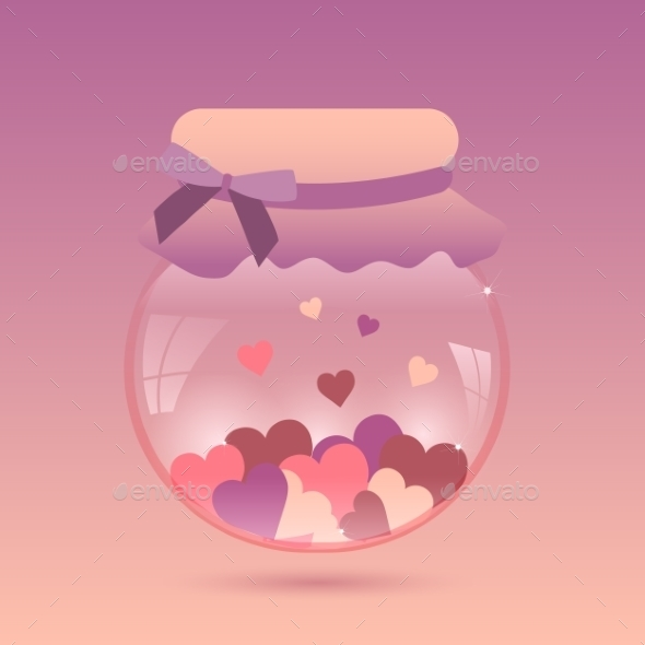 GraphicRiver Glass Jar with Heart 10091544