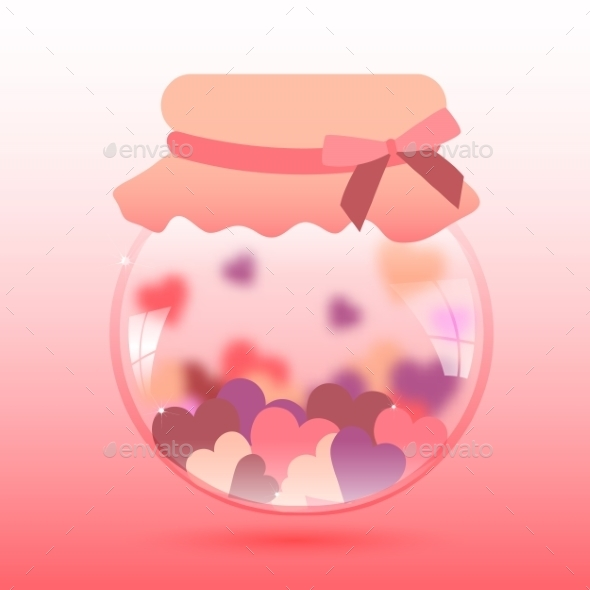 GraphicRiver Glass Jar with Heart 10091545