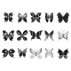 Butterflies, Black Silhouettes - GraphicRiver Item for Sale
