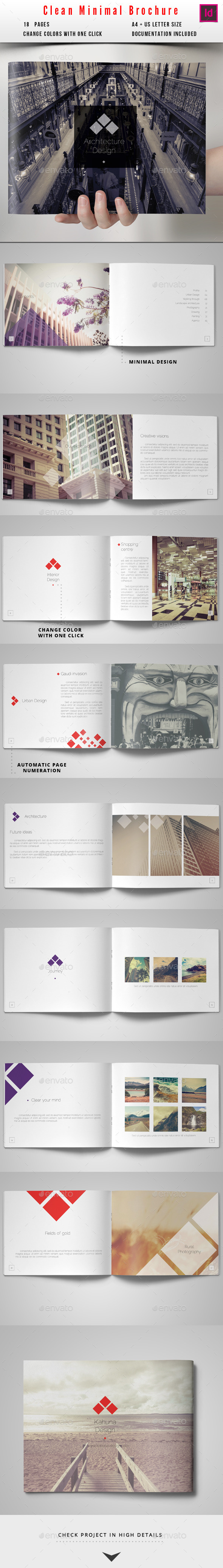 GraphicRiver Minimal Clean Brochure 10091672