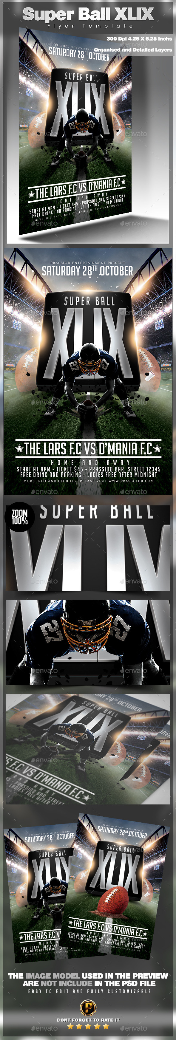GraphicRiver Super Ball XLIX Flyer Template 10092160