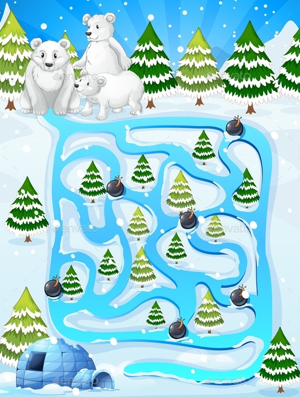 GraphicRiver Winter Maze Game 10092454