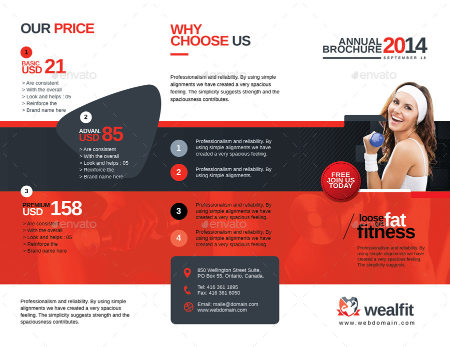 WealFit – Gym Brochure