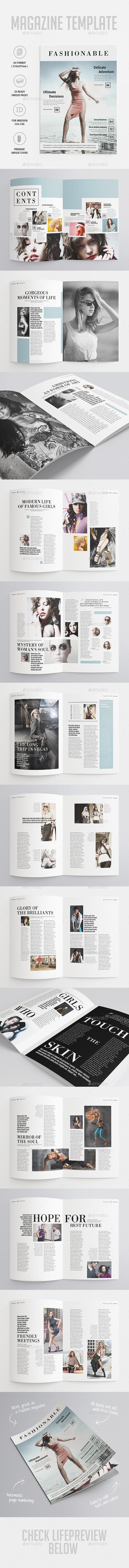 GraphicRiver Fashion Magazine 10093001