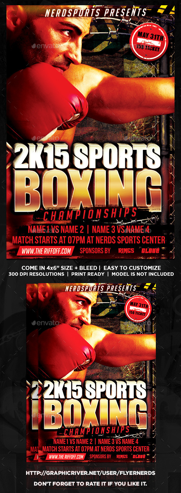 GraphicRiver Boxing Fight Sports Flyer 10093036