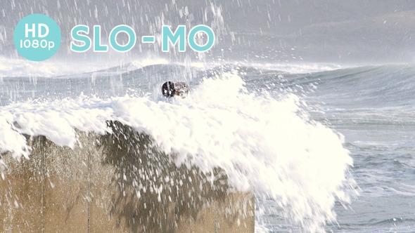 Surf Splash over Sea Wall