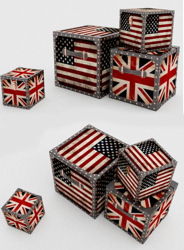Decorative british box - 3DOcean Item for Sale