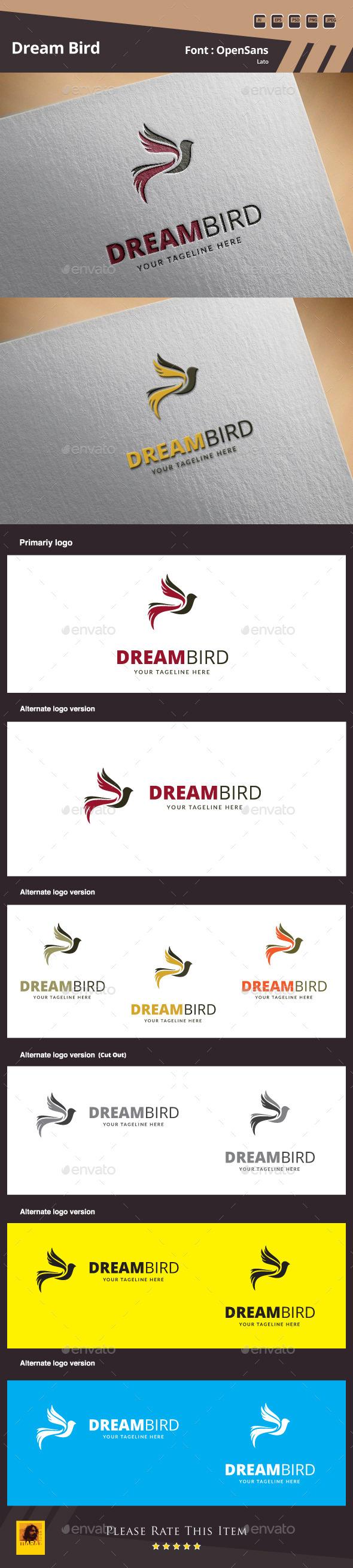 GraphicRiver Dream Bird Logo Template 10093251