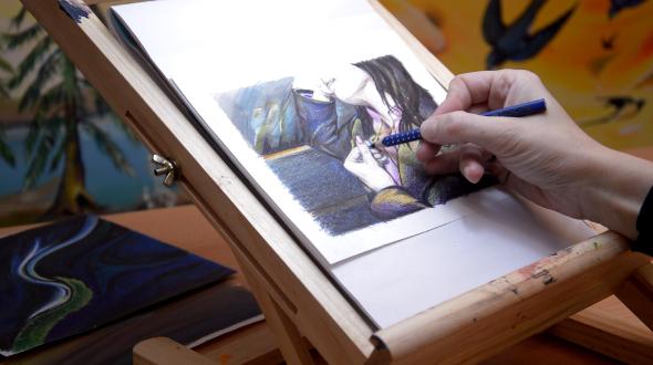 Artist Drawing Female Figure