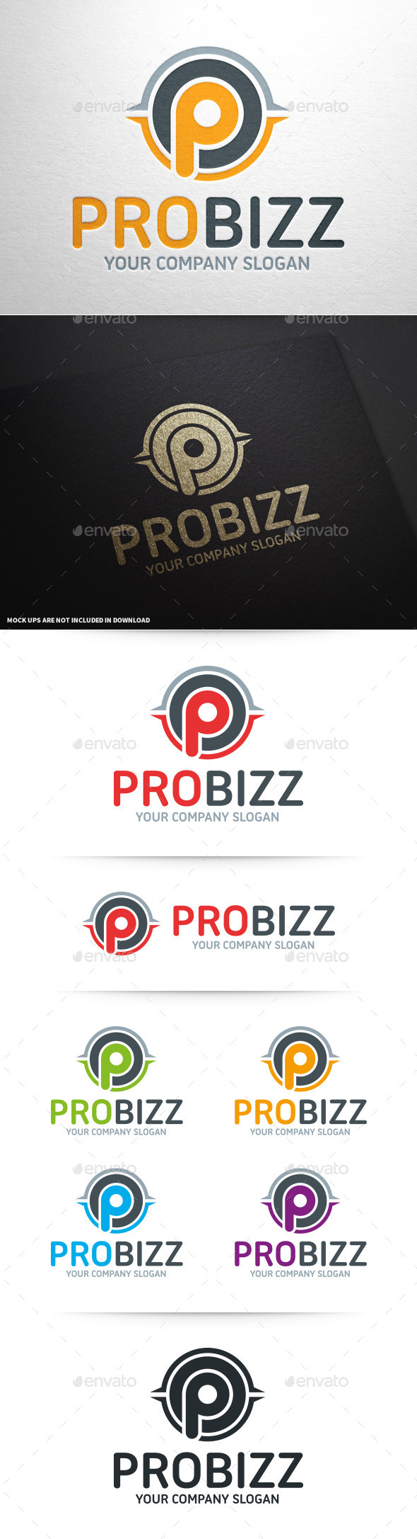 GraphicRiver Pro Business Letter P Logo 10093352