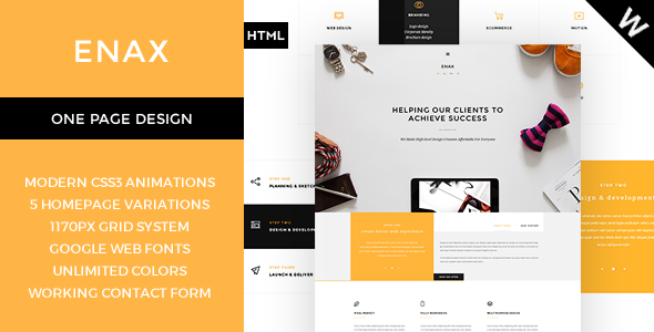 ThemeForest Enax A Stylish and Modern Corporate Theme 10093406