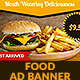 Burger Food GWD HTML5 Ad Banner