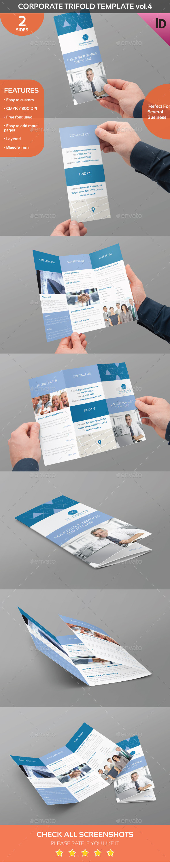 Corporate Trifold Template Vol.4