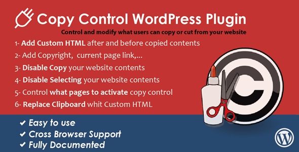WordPress Copy Control Plugin