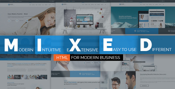 ThemeForest Mixed Modern and Professional HTML Template 10093923