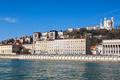 Honrizontal view of Lyon with Saone river - PhotoDune Item for Sale