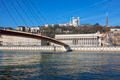 Horizontal view of Saone river at Lyon - PhotoDune Item for Sale