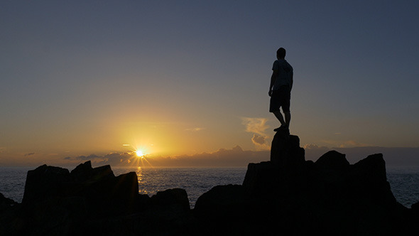VideoHive Standing Watching the Sunrise 10094153