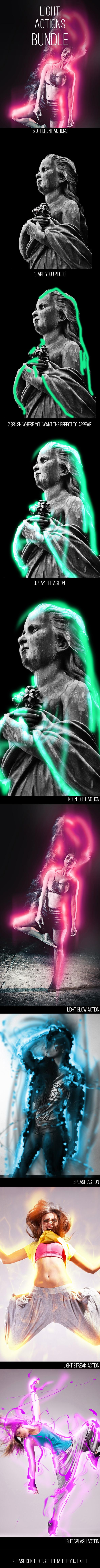 GraphicRiver Light Photoshop Actions Bundle 10094262