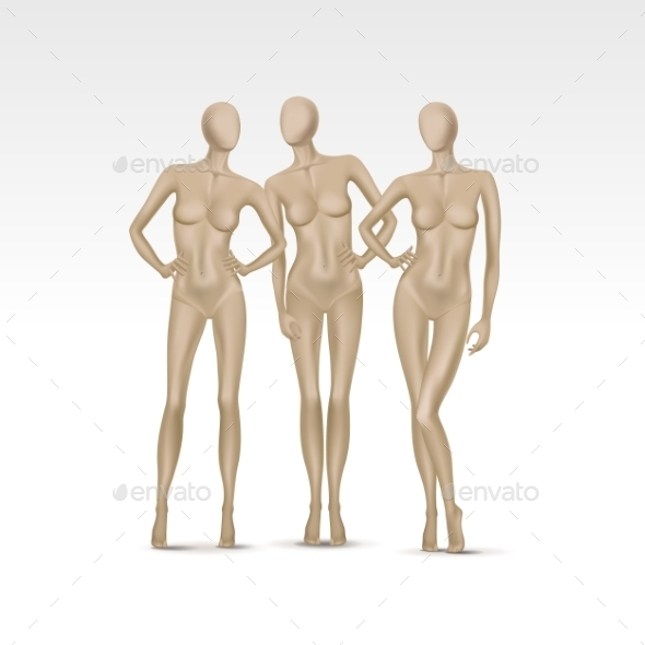 GraphicRiver Set of Isolated Female Mannequins 10094482