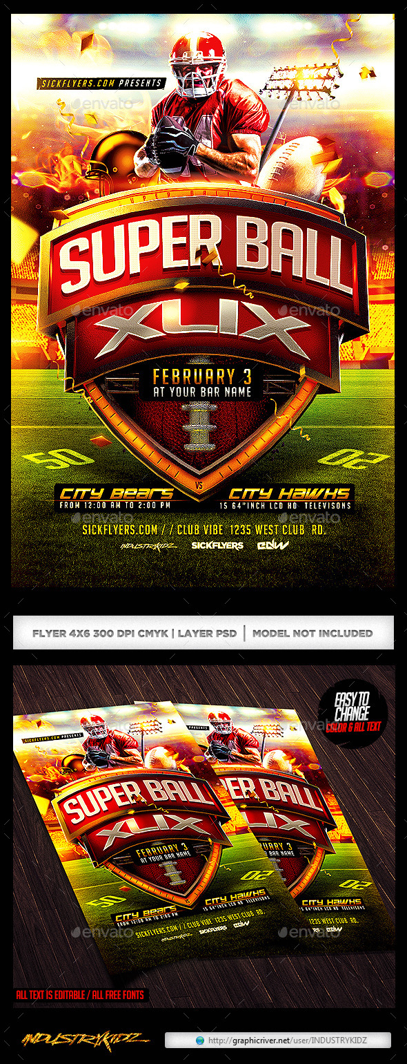 Super Ball Football Flyer