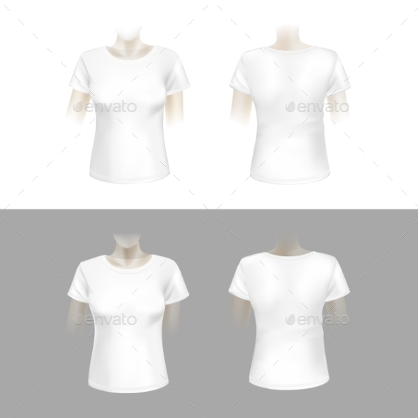 GraphicRiver White Womens T-Shirt 10094510