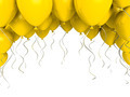 Yellow party ballons on white background - PhotoDune Item for Sale